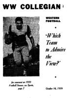 Western Washington Collegian - 1959 October 16