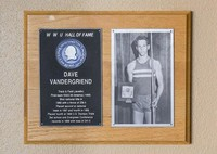 Hall of Fame Plaque: Dave VanderGriend, Track and Field (Javelin), Class of 1993