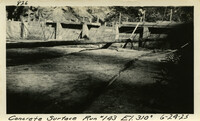 Lower Baker River dam construction 1925-06-24 Concrete Surface Run #143 El.3100