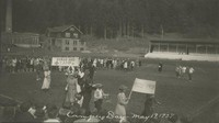 1927 Campus Day: Marching on Football Field