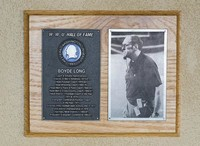 Hall of Fame Plaque: Boyde Long, Admisitrator and Coach, Class of 1995