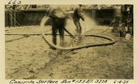Lower Baker River dam construction 1925-06-04 Concrete Surface Run #123 El.327.8