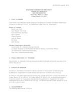 WWU Board of Trustees Minutes: 2016-03-17