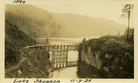 Lower Baker River dam construction 1925-11-03 Lake Shannon (with railroad trestle)