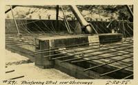 Lower Baker River dam construction 1925-02-20 Reinforcing Steel over Sluiceways