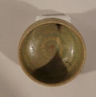 Phan ware bowl with lightly grooved sides