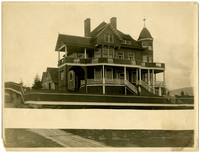 """Exterior of very grand, Victorian-style home called """"Wardner Castle,"""" 15th street, south Bellingham, WA"""
