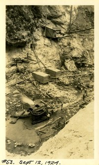 Lower Baker River dam construction 1924-09-12 Excavation (rock formation)