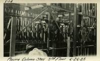 Lower Baker River dam construction 1925-06-26 Placing Column Steel 3rd Floor