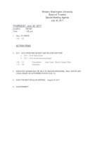 WWU Board of Trustees Packet: 2017-07-20