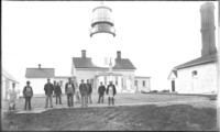 Personnel of Construction (repair) crew at Flattery Lighthouse
