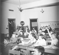 1960 Student Teachers Observing from Back of Campus School Classroom