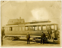Fairhaven & Whatcom streetcar number 74 with two conductors and two passengers