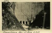 Lower Baker River dam construction 1925-08-03 Downstream Face of Dam
