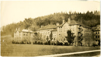 Early view of Washington State Normal School's Old Main building