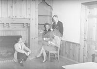 1960 Student teachers relax in Campus School dining room