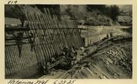 Lower Baker River dam construction 1925-06-23 Retaining Wall