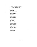 AS Board Minutes 1954 Fall member list