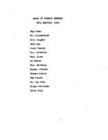 AS Board Minutes 1954 Fall member list