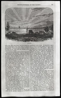 Mountaineering on the Pacific (copy of page 4 of article from Harper's New Monthly Magazine)