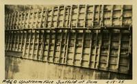Lower Baker River dam construction 1925-04-18 Upstream Face Scaffold at Dam