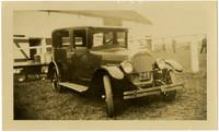 An early model four-door touring car
