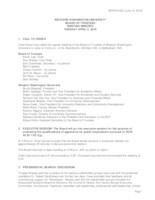 WWU Board of Trustees Meeting Records 2016 April