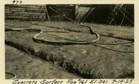 Lower Baker River dam construction 1925-07-14 Concrete Surface Run #161 El.301