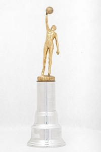 Basketball (Men's) Trophy: Inspirational Award (front), 1947/1956