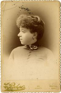 Studio portrait of woman in profile