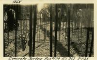 Lower Baker River dam construction 1925-08-01 Concrete Surface Run #179 El.382