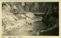 Lower Baker River dam construction 1924-08-21 Upstream view of river