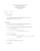 WWU Board of Trustees Packet: 2013-07-18