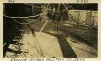 Lower Baker River dam construction 1925-07-09 Concrete Surface Run #156 El.3595