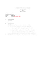 WWU Board of Trustees Packet: 2013-04-11