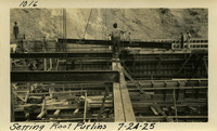 Lower Baker River dam construction 1925-07-24 Setting Roof Purlins