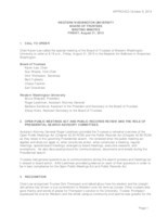 WWU Board of Trustees Minutes: 2015-08-21