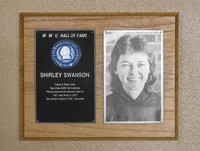 Hall of Fame Plaque: Shirley Swanson, Track and Field (440), Class of 1986