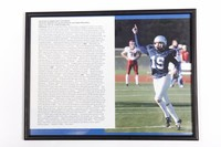 Football Photograph: Michael Koenen, Punter/Placekicker, #19, list of honors and             records, 2002/2004