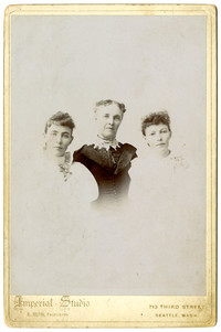 Three unidentified women, probably a mother and two daughters