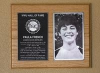 Hall of Fame Plaque: Paula French, Women's Soccer (Midfielder), Class of 2005