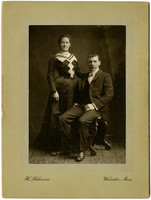 Studio portrait of unidentified couple