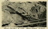 Lower Baker River dam construction 1925-06-06 Rock Surface E. Side Power House