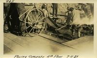 Lower Baker River dam construction 1925-07-11 Placing Concrete 4th Floor