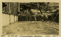 Lower Baker River dam construction 1925-03-28 Downstream Section Elev 185.5