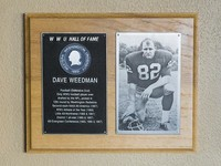 Hall of Fame Plaque: Dave Weedman, Football (Defensive End), Class of 1979