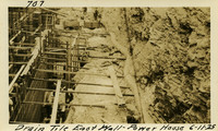Lower Baker River dam construction 1925-06-11 Drain Tile East wall Power House