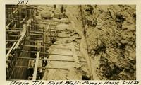 Lower Baker River dam construction 1925-06-11 Drain Tile East wall Power House