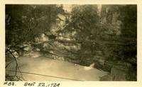 Lower Baker River dam construction 1924-09-22 Excavation site at dam site