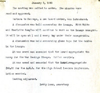 AS Board Minutes 1945-01